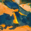 Aerial Remembered in Orange, oil on canvas by Barbara Strelke