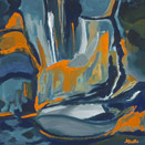 Blue Wall, oil on canvas by Barbara Strelke