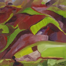 Canyon View 3, oil on canvas by Barbara Strelke
