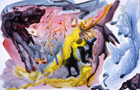 Sea of Cortez Tidepools 1, watercolor on yupo by