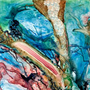 Sea of Cortez Tidepools 4, watercolor on yupo by Barbara Strelke