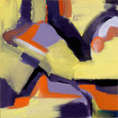 Yellow Gesture 1, oil on canvas, by Barbara Strelke