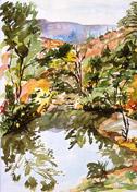 Sabino Canyon, watercolor by Barbara Strelke