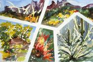 Desert Mosaic, watercolor by Barbara Strelke