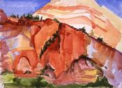 Grotto-Zion, watercolor by Barbara Strelke