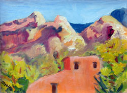 DeGrazia Chapel Study, oil by Barbara Strelke