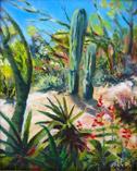Desert Bounty - Tohono Chul Park, oil on  canvas panel by Barbara Strelke