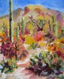 Sabino Morning Light, oil on canvas by Barbara Strelke