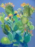 Prickly Pear in Spring, pastel by Barbara Strelke